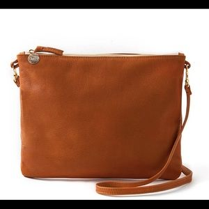 Clare V. Tan Leather Crossbody Bag